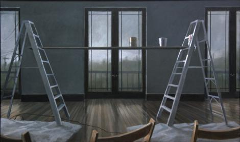 "Norman Lundin (American, born 1938), Music Room, 2008, oil on canvas, 37 x 67"", courtesy of the artist and Francine Seders Gallery, Seattle, Washington. Photo: Norman Lundin"