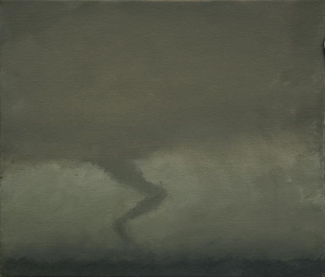 """Tornado II, Nineteen Mile Road"", 2013, oil on canvas, 12 x14"""