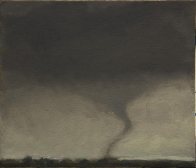 """Tornado III, Nineteen Mile Road"", 2013, oil on canvas, 12 x 14"""
