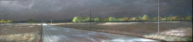 """Tornado Weather I"", 2010, oil on canvas, 20 x 90"""