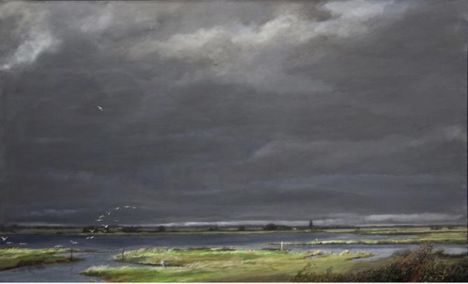 'Twenty five Birds - Wetlands', 2009-11, oil on canvas, 42 x 54'
