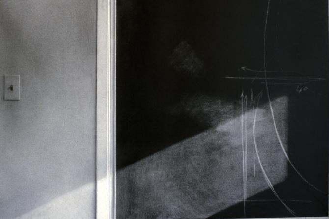 """Blackboard and Lightswitch"", 1974, charcoal, 24 x 36""; Collection: Museum of Modern Art, New York, NY"