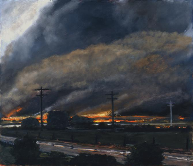 'Prairie Fire #2', 1992, oil on canvas, 36 X 42 inches; private collection