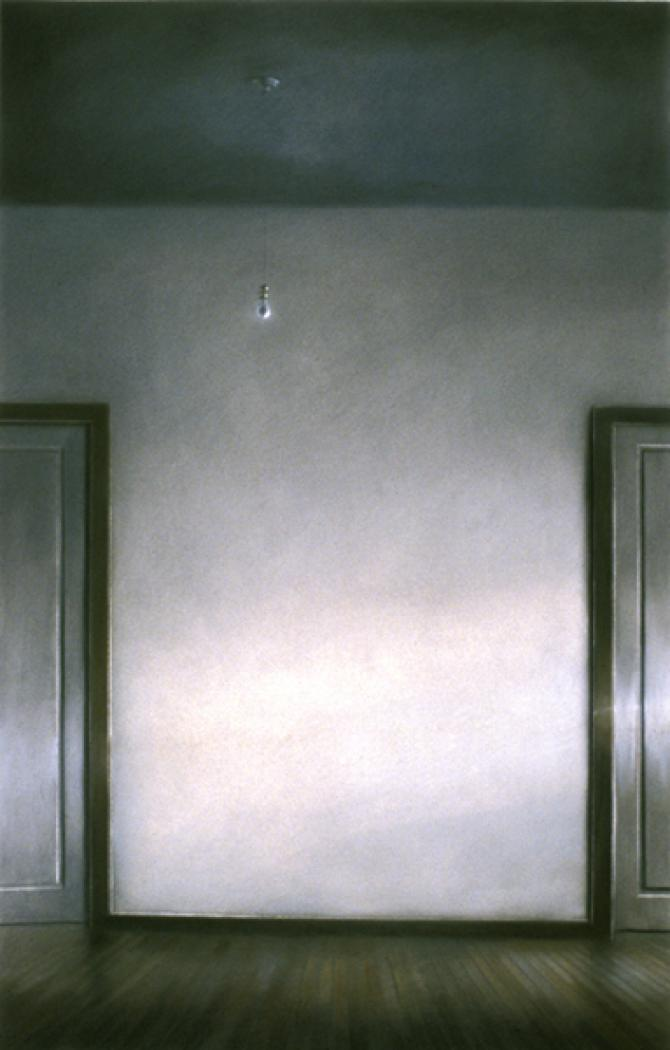 """60th Street Studio: Corridor"", 1985, pastel, 44 x 28"", collection: Huntsville Museum of Art, Huntsville, AL"