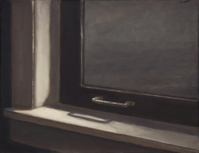 """Boathouse Window"", 2013, oil on canvas, 14 x 18"""