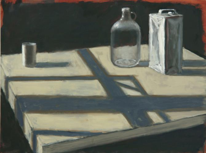 """""""Still Life with Cast Shadows"""", 2015, oil on wood panel, 16 x 24"""""""