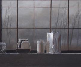 'Window Sill, Studio', 2008, oil on canvas, 24 X 36 inches, private collection