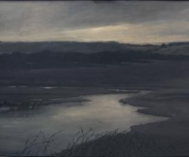 """Powder River, Montana"", 2012, oil on wood panel, 46 x 66"""