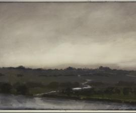 """Tennessee River"", 2013, oil on paper, 6.25 x 8.5"""