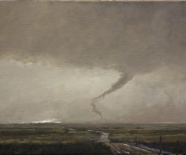 """Tornado I, Nineteen Mile Road"", 2013, oil on canvas, 18 x 24"""
