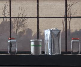 'Studio Window Sill - Afternoon', 2010, oil on linen, 12 X 24 inches