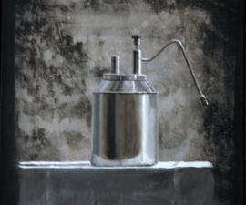 'Milk Steamer', 2010, acrylic on canvas, 16 X 14 inches