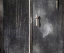 'Metal Door', 1988, oil on canvas, 48 X 36 inches