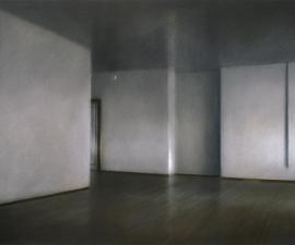 "Studio Corridor #14, 1983, pastel, 14 x 22"", Achenbach Foundation, Palace of the Legion of Honor, San Francisco"