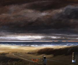 'Road to the Beach', 2005, oil on canvas, 48 X 60 inches; private collection