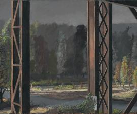 """From the Railway Trestle"", 2019, oil on canvas, 48"" x 72"""