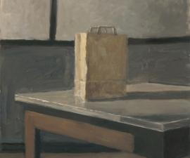 """Geometric Still Life"", 2015, oil on wood panel, 21 x 21"""